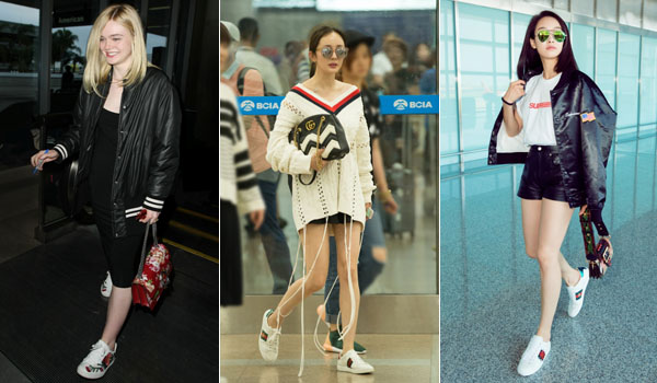 Vip S Wearing Gucci Ace Sneakers Fashionfad