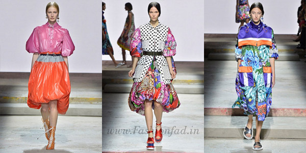 Her collection featured florals, intertwined with perspex blocks inspired  by Legos, and hand-braided came in form of bubble dresses and skirts in  voluminous ...