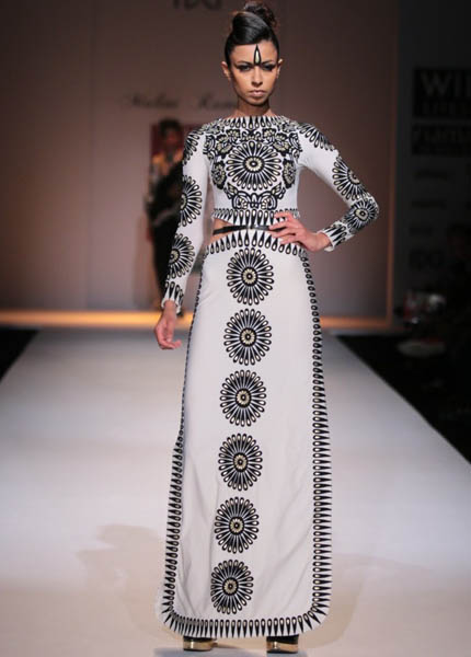 efb590f2a3 Malini Ramani Show at Wills Lifestyle India Fashion Week AW'14 - Fashionfad