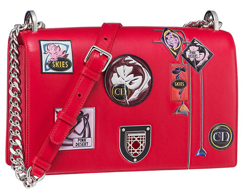 90c89c2885 ... while red  paradise  consists of enamel framed badge closure and the bag  in pink lambskin inlaid with a flower in leather and exotic fish marquetry.