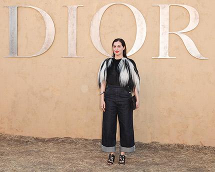 c5965f7512 ... Chimamanda Adichie, Margaret Qualley, Rainey Qualley, Mia Moretti,  Olivia Palermo & Chiara Ferragni wore Dior at the cruise 2018 show in  California, LA.