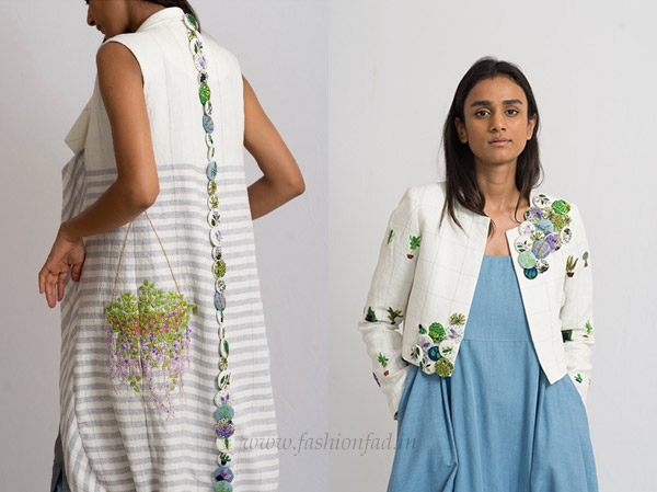 2923ed70201a6 Her AW 18 collection celebrates the coexistence of the organic with the  industrial. Opposing elements come together. Fine needlepoint embroideries  on ...
