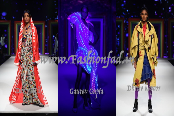 Melange of hues free wheel, at the Grand Finale SS19 Show - Fashionfad