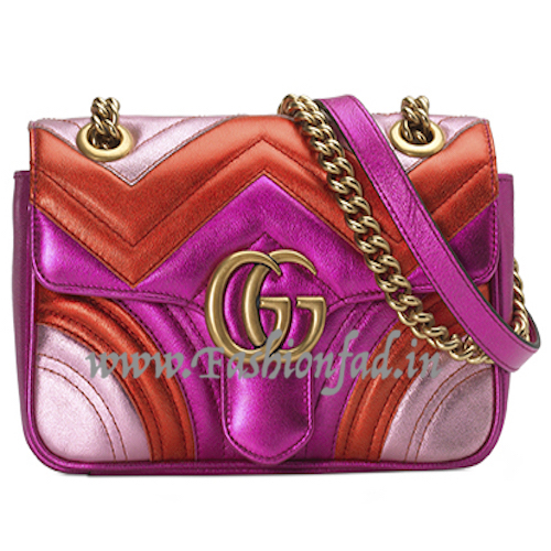 9c0c97d30349 There is a classic shoulder bag, a camera case style mini bag and a small  belt bag – all in bright, metallic colours.